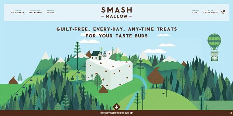 smash mallow ecommerce website