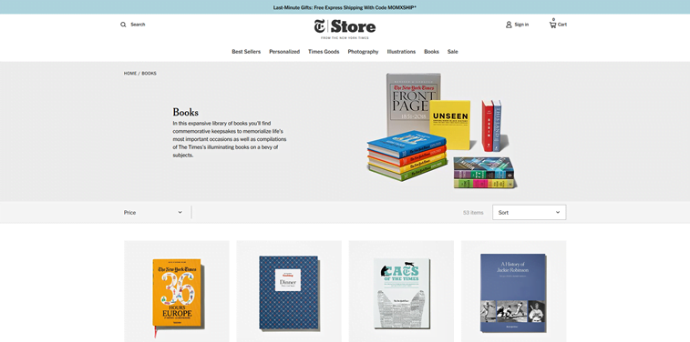 the new york times books online store