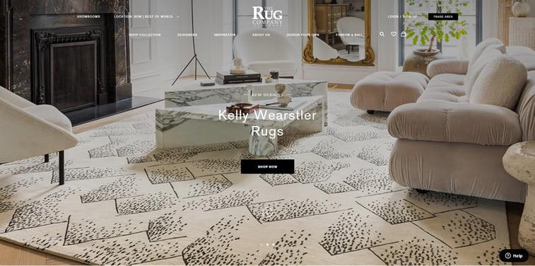 The Rug Company website design