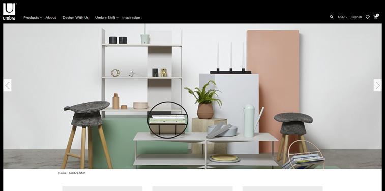 umbra online store homepage