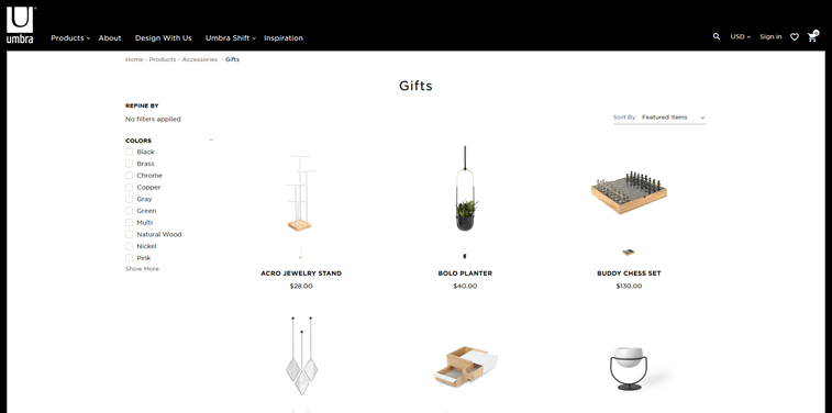 umbra products page gifts