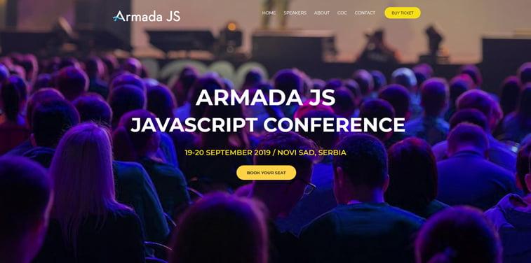 armada js kconference homepage javascript novi sad