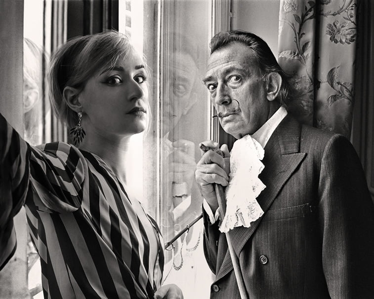 flora borsi and salvador dali photo manipulation