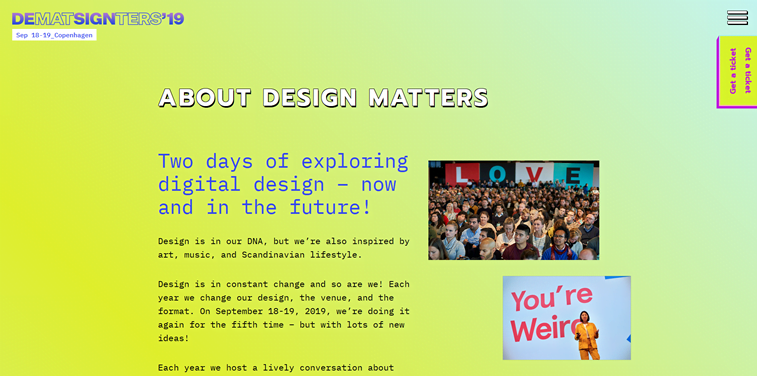 design matters conference homepage
