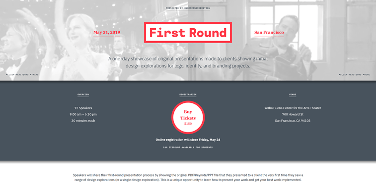 first round design conference