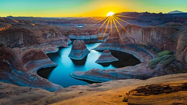 izlazak sunca kanjon zora desktop slika