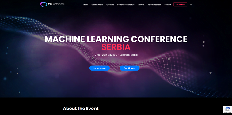 machine learning conference subotica