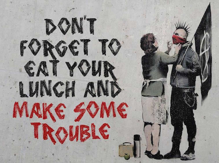 banksy make some trouble