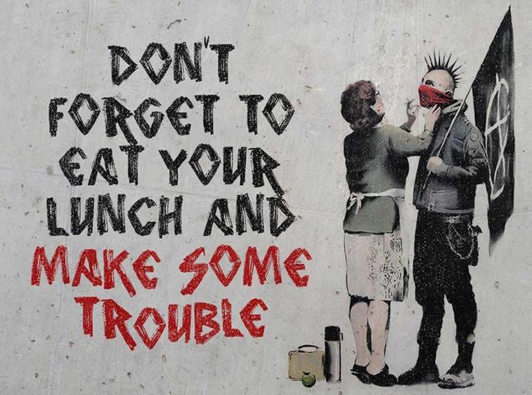 banksy make some trouble
