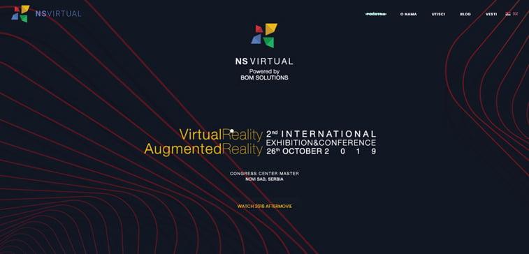 ns virtual conference homepage ar vr konferencija novi sad