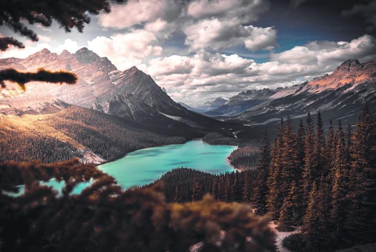 oblaci planinsko jezero desktop pozadina