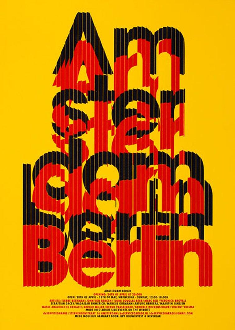 Amsterdam Berlin film typography poster