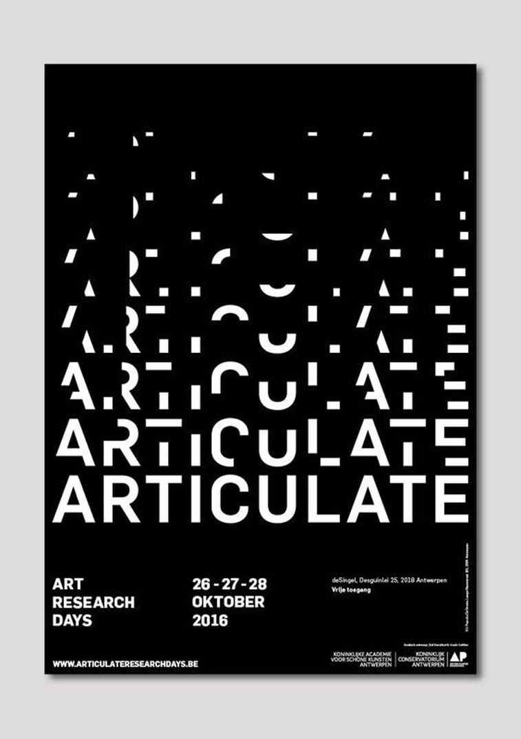 Articulate poster typography poster design