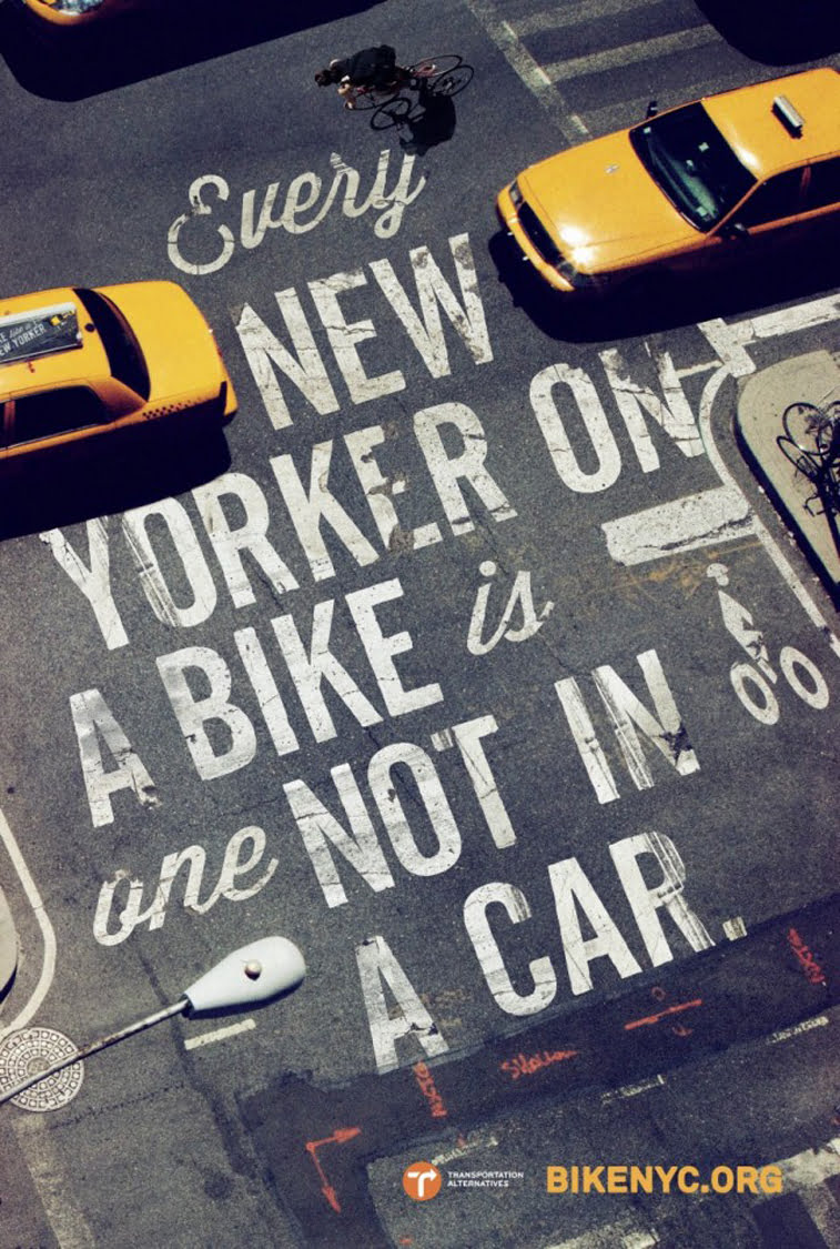 Bike Like a New Yorker poster design typography