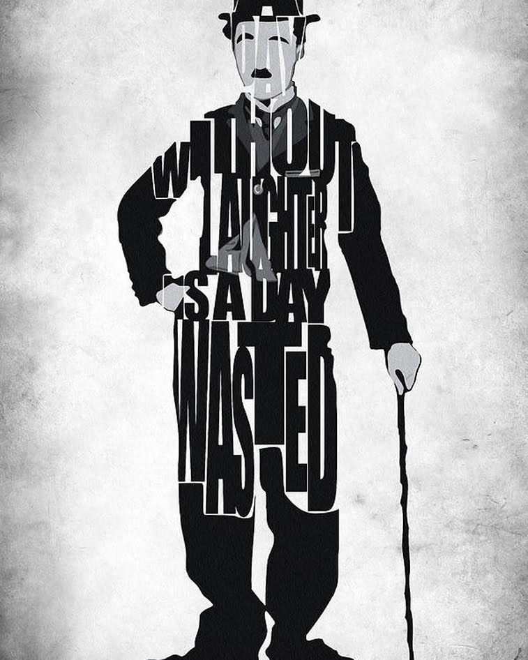 Charlie Chaplin typography poster design