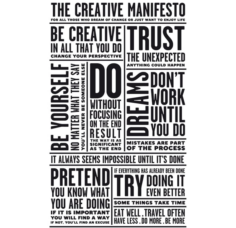 Creative manifesto typography poster Fonts