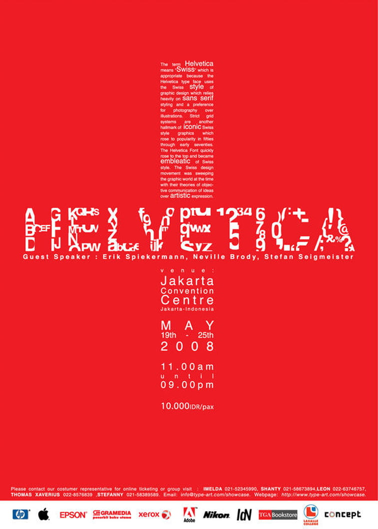 helvetica poster typography poster