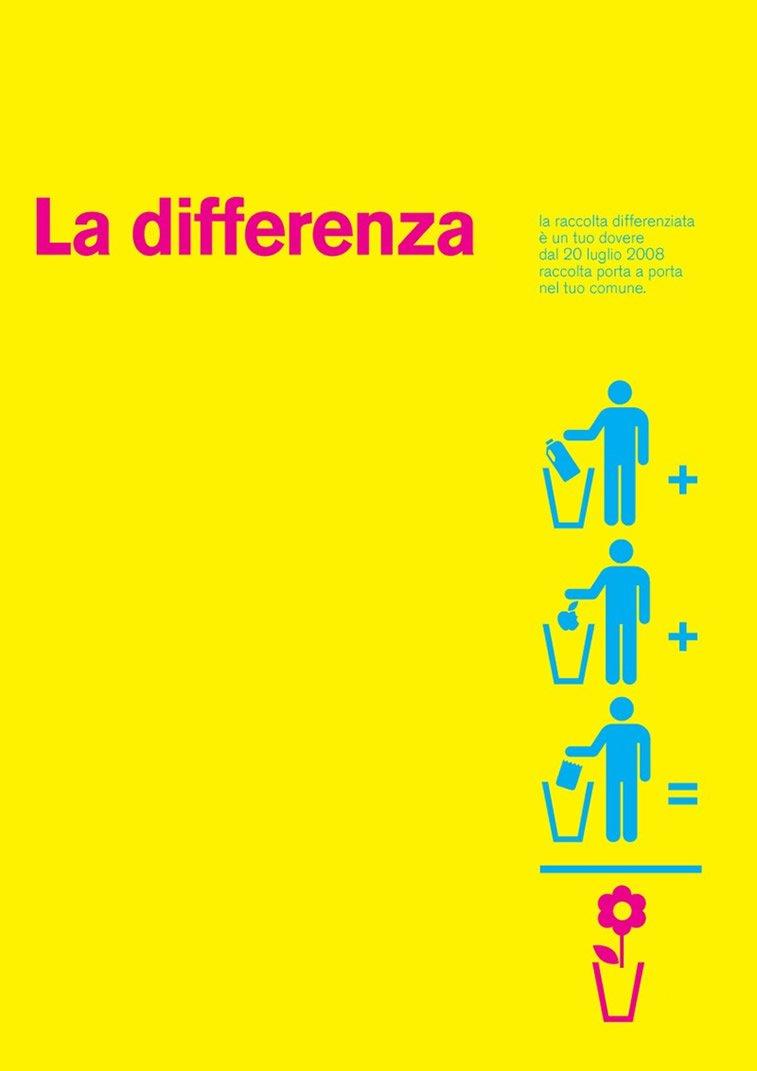La differenza poster design typographic poster