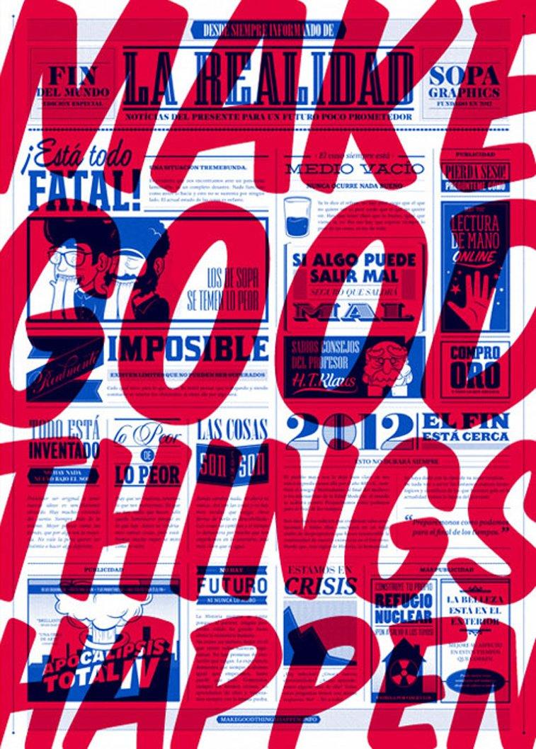 Make Good Things Happen poster design