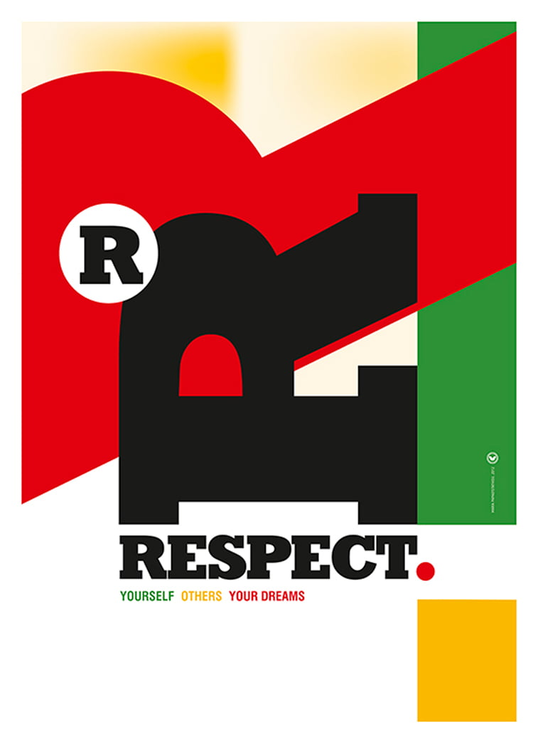 Respect typography poster letters