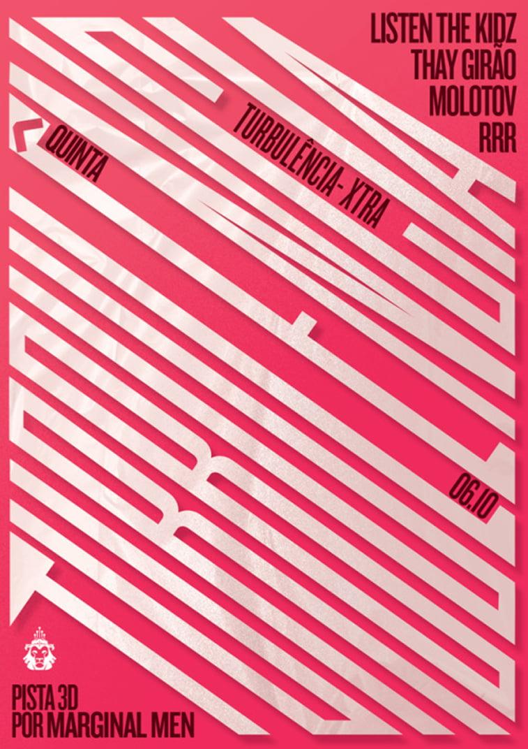 turbulencia poster design typography