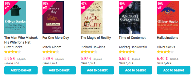 bookdepository online store cta buttons