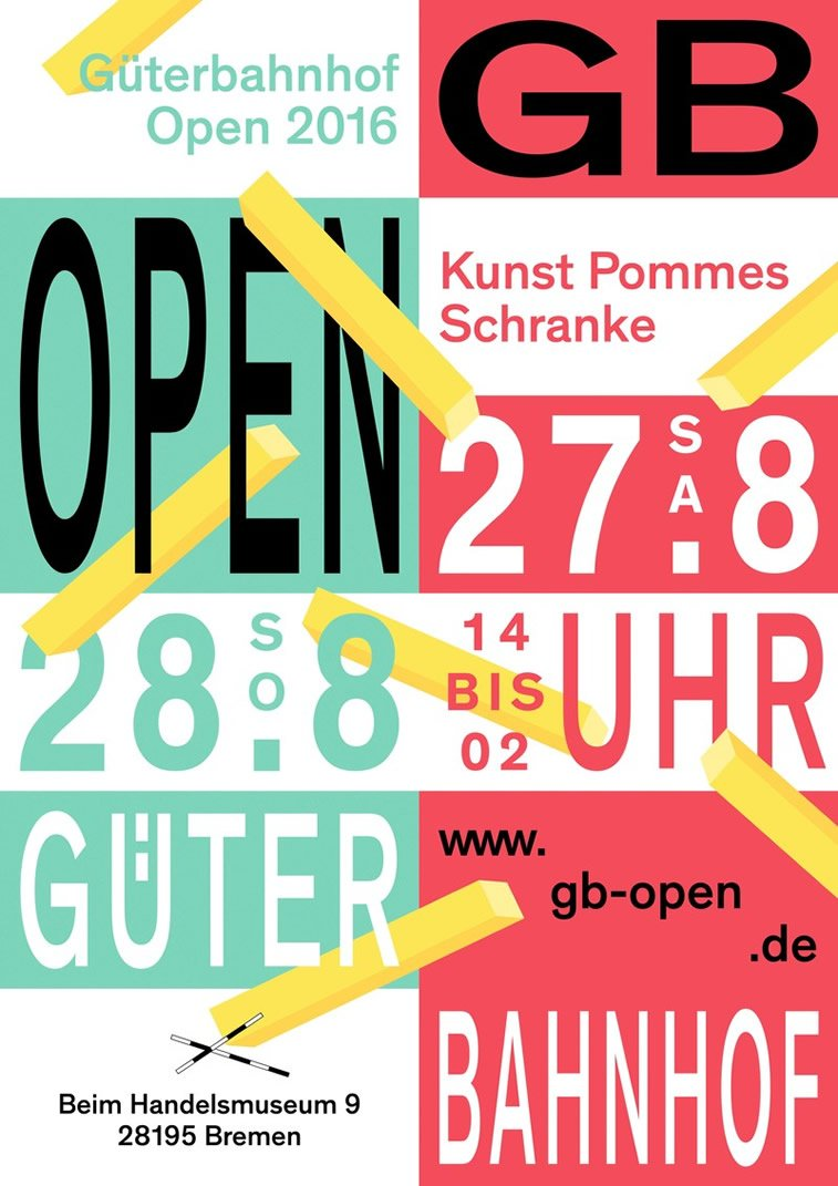 gb open 2016 poster design colorful typography