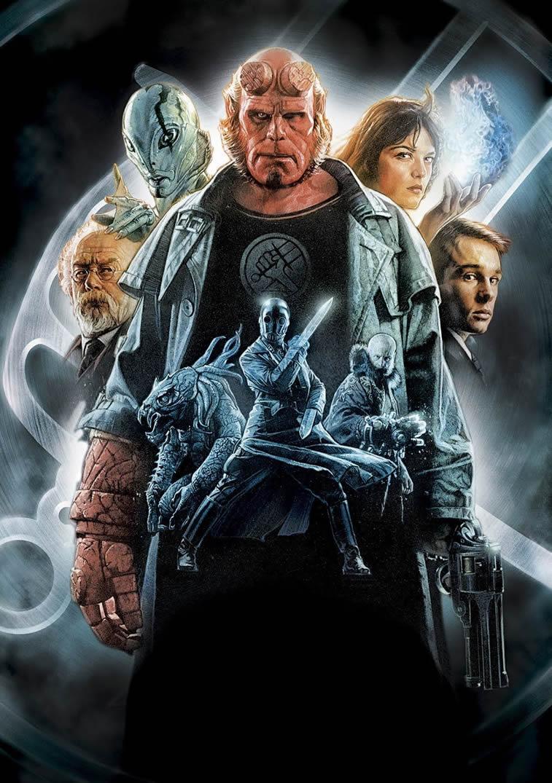 hellboy film poster drew struzan