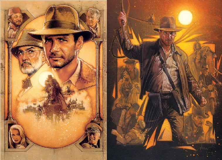 indiana jones poster drew struzan