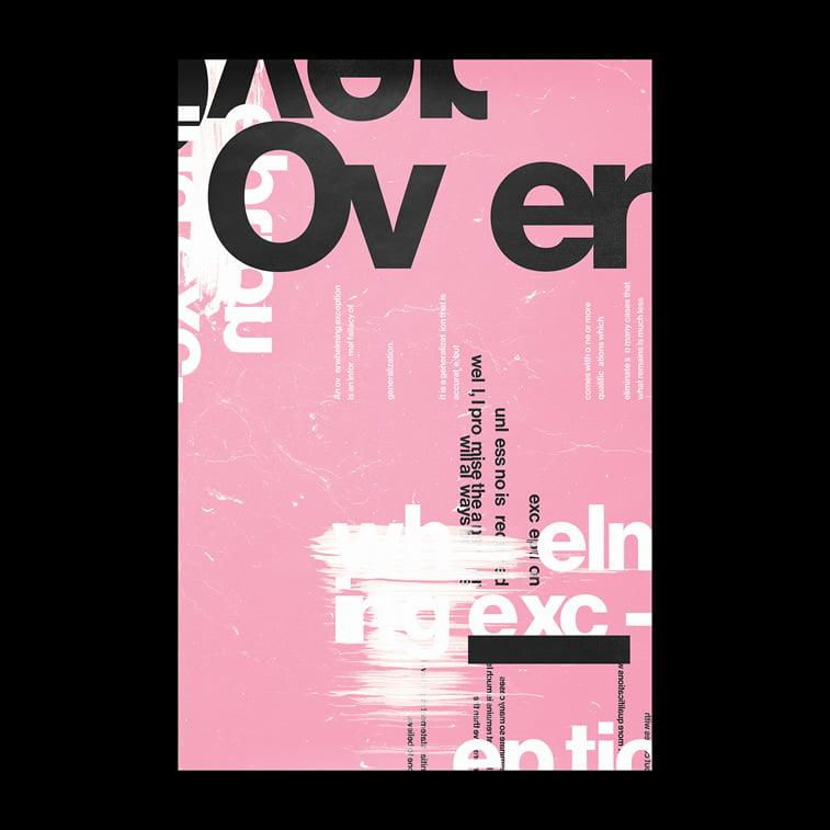 typography poster black pink