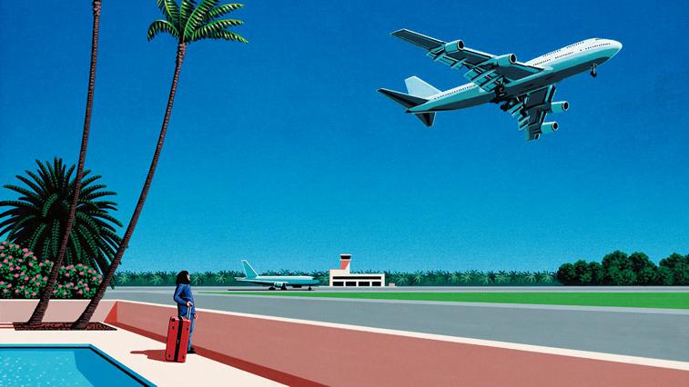 hiroši nagai aerodrom avion