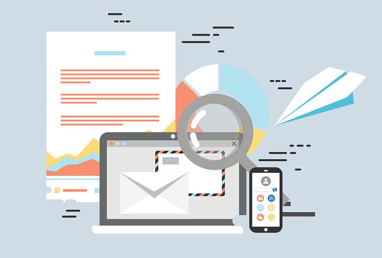 email marketing vector illustartion