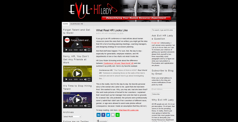 evil hr lady hr blog