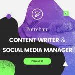 oglas za menadžera društvenih mreža