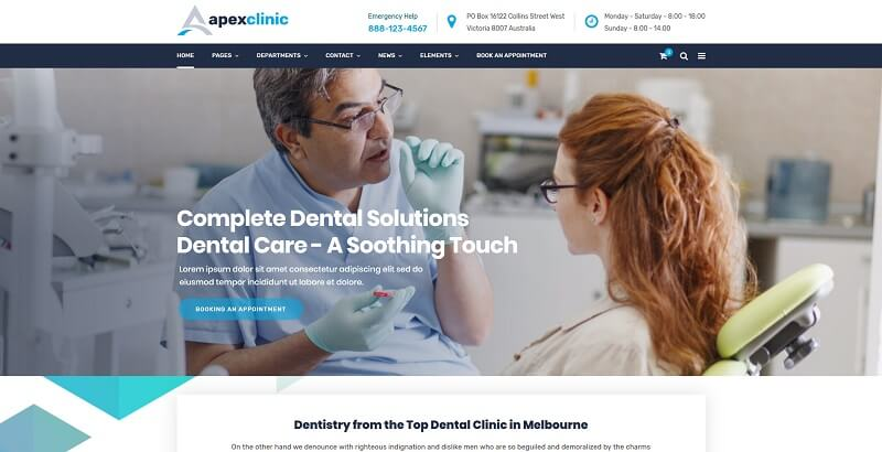 apex clinic wordpress theme