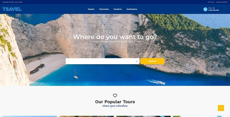 book your travel wp theme