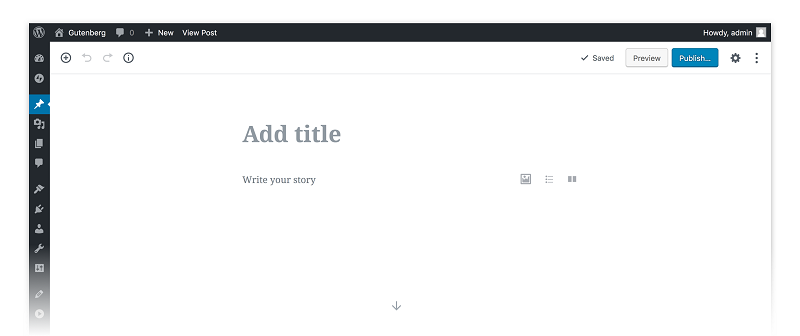wordpress gutenberg text editor