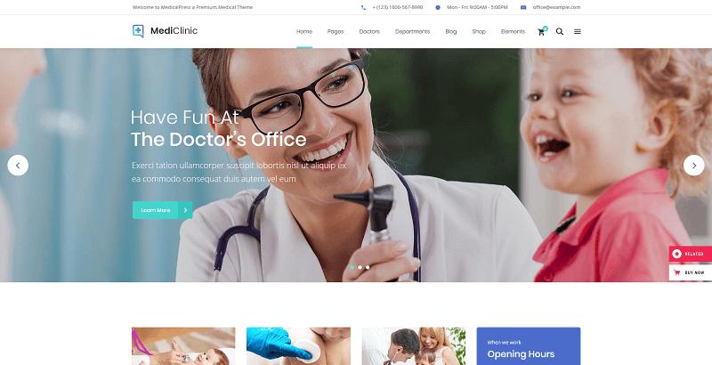 medi clinic wordpress theme