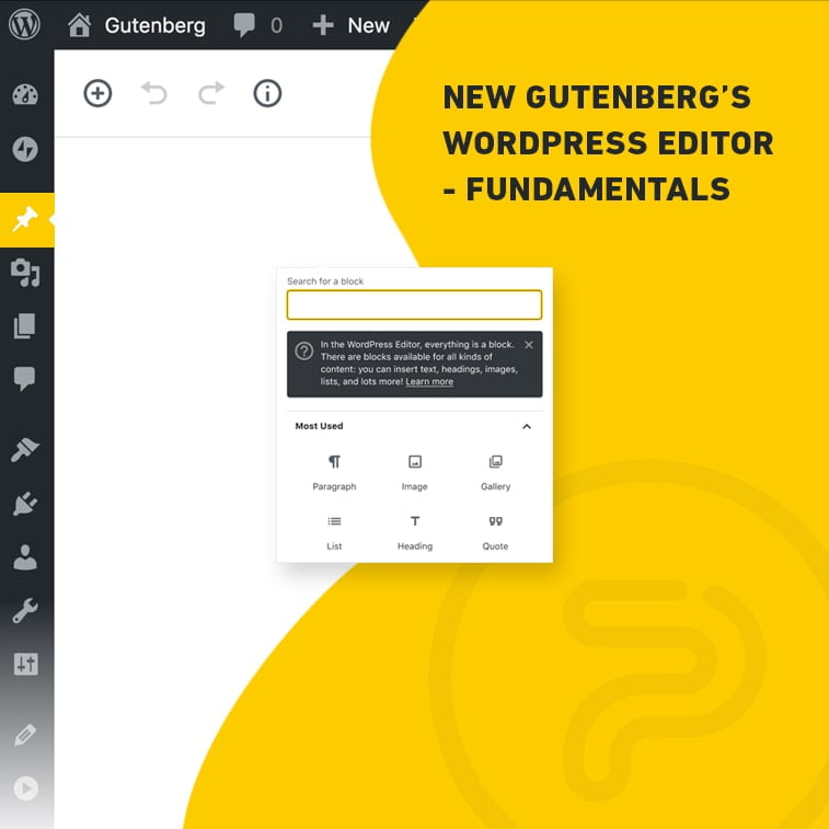 New Gutenberg's WordPress editor – fundamentals