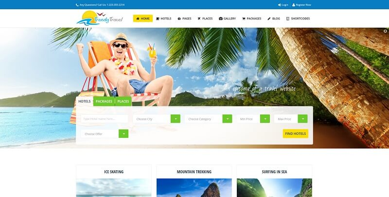 trendy travel theme wordpress