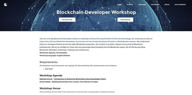 blockchain development radionica