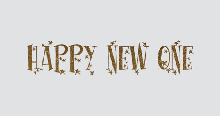 happy new one font