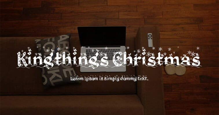 kingthing's christmas font