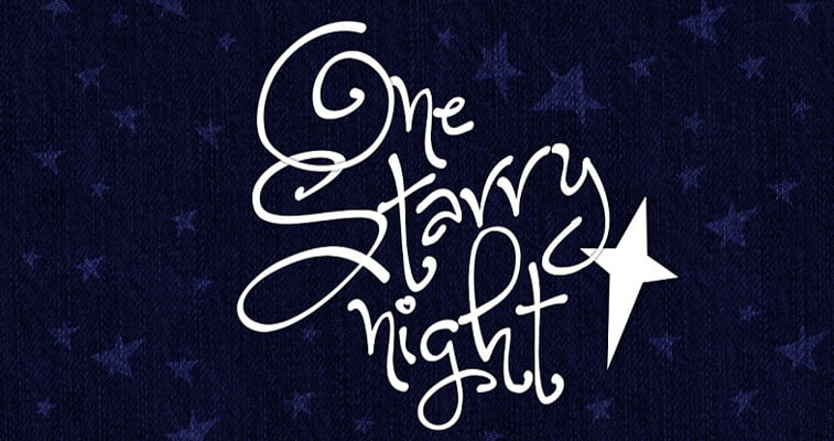 one starry night font
