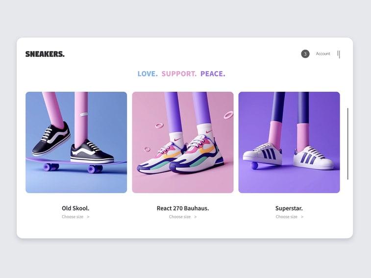 3d online sneakers store