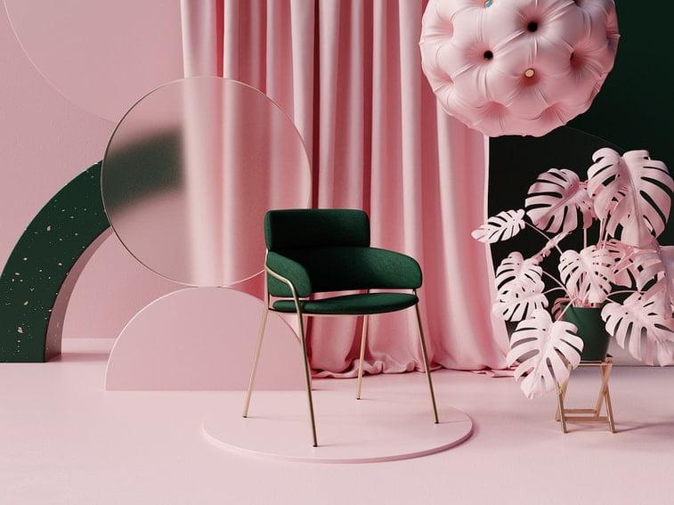3d room pastel