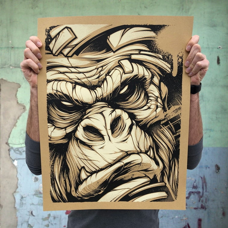 gorilla screenprint craig patterson