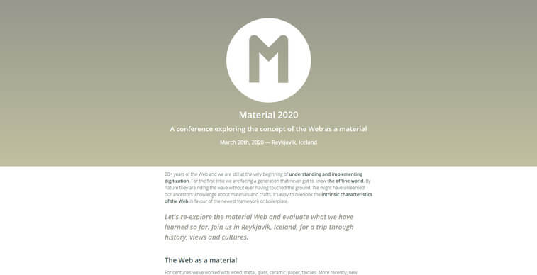material 2020 conference