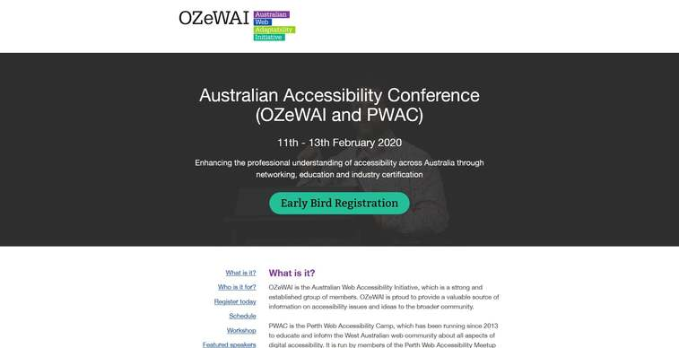 australian accessibility conference