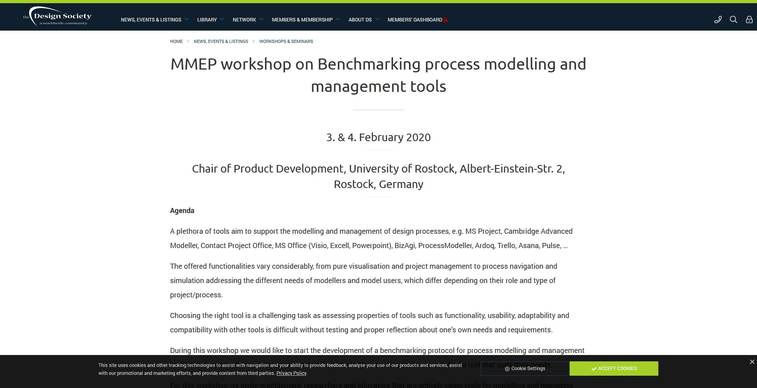 mmep workshop on benchmarking process modelling and management tools